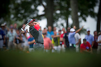 Rory McIIroy hits his approach into the 12th green during the opening round of the PGA Championship at Valhalla (Photo: Anthony Powter) Picture: Anthony Powter / www.golffile.ie