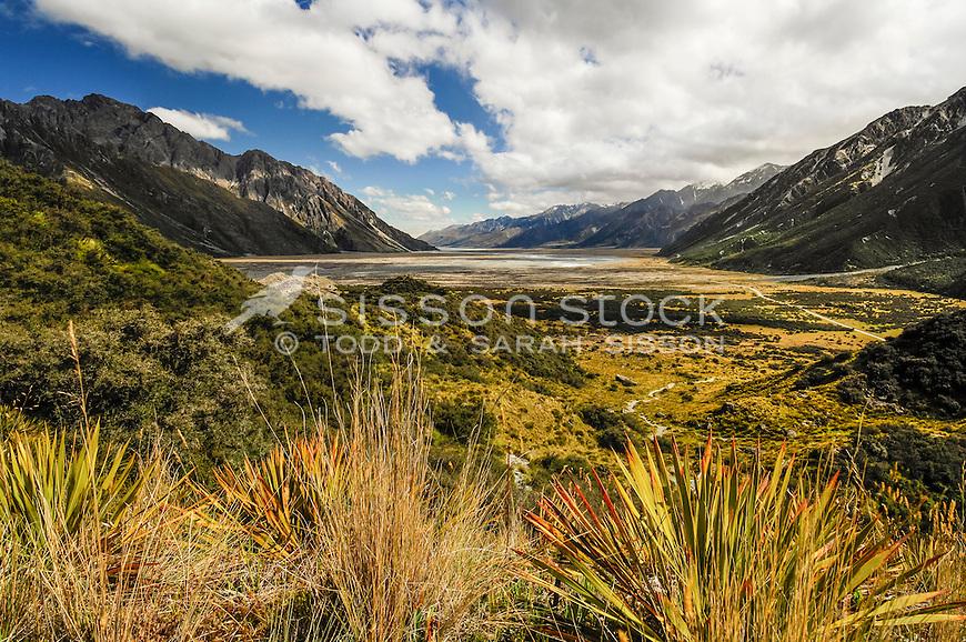 Looking towards the Tasman River valley & Lake Pukaki from the Tasman Valley walk.