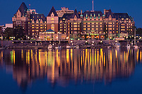 The Empress Hotel at Dusk, Victoria, British Columbia, Canada.