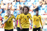 Wout Faes of Belgium  looks on<br /> Reggio Emilia 16-06-2019 Stadio Città del Tricolore <br /> Football UEFA Under 21 Championship Italy 2019<br /> Group Stage - Final Tournament Group A<br /> Poland - Belgium<br /> Photo Cesare Purini / Insidefoto