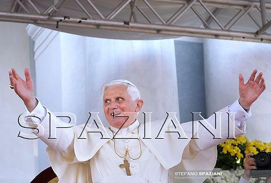Pope Benedict XVI  during his Angelus prayer in Bressanone, northern Italy,..Aug. 03, 2008..