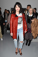 Pixie Geldof<br /> at the Ashley Williams AW17 show as part of London Fashion Week AW17 at 180 Strand, London.<br /> <br /> <br /> ©Ash Knotek  D3230  17/02/2017