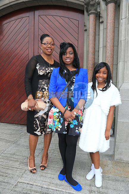 Talor aiyegbeni.Shant.Christina. at confirmation in st. Marys..Picture:  www.newsfile.ie ..