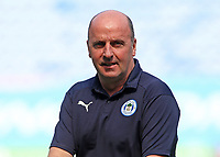 Wigan Athletic manager Paul Cook looks on before kick off<br /> <br /> Photographer David Shipman/CameraSport<br /> <br /> The EFL Sky Bet Championship - Wigan Athletic v Preston North End - Monday 22nd April 2019 - DW Stadium - Wigan<br /> <br /> World Copyright © 2019 CameraSport. All rights reserved. 43 Linden Ave. Countesthorpe. Leicester. England. LE8 5PG - Tel: +44 (0) 116 277 4147 - admin@camerasport.com - www.camerasport.com