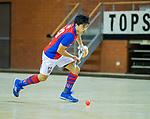 Almere - Zaalhockey  Laren-SCHC (heren)   .  Roderick Tam (SCHC) ) .TopsportCentrum Almere.    COPYRIGHT KOEN SUYK