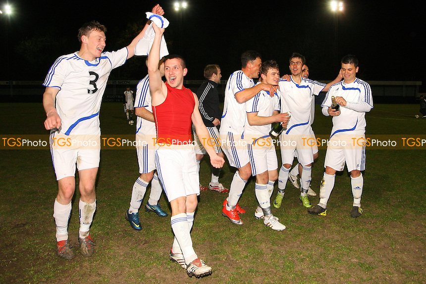 Real Romania celebrate victory - Bancroft United (yellow) vs Real Romania - Albert Daniels Senior Cup Final at Leyton FC - 16/04/10 - MANDATORY CREDIT: Gavin Ellis/TGSPHOTO - Self billing applies where appropriate - Tel: 0845 094 6026