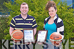 NATIONAL AWARDS:Tralee Imperials Liam Culloty winner of the National basketball women's senior coach of the year and Sinead Mackessy winner of the National basketball young female player of the year...
