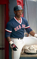 Boston Red Sox Ellis Burks during spring training circa 1992 at Chain of Lakes Park in Winter Haven, Florida.  (MJA/Four Seam Images)