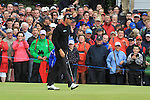 Padraig Harrington sinks his putt on the third on day three of the 3 Irish Open, at the Killarney Golf and Fishing Club, Killarney, Ireland.Picture Fran Caffrey/www.golffile.ie.
