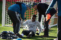 Toronto, ON, Canada - Friday Dec. 09, 2016: Oalex Anderson injury during training prior to MLS Cup at BMO Field.