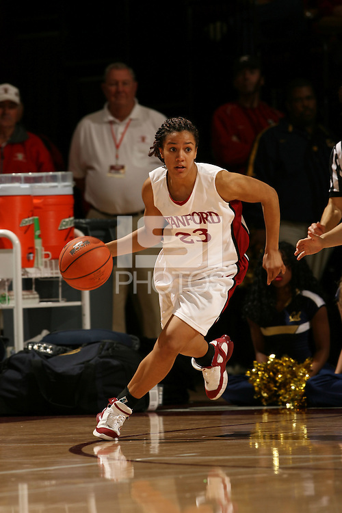 14 January 2006: Rosalyn Gold-Onwude during Stanford's 87-75 win over the California Golden Bears at Maples Pavilion in Stanford, CA.
