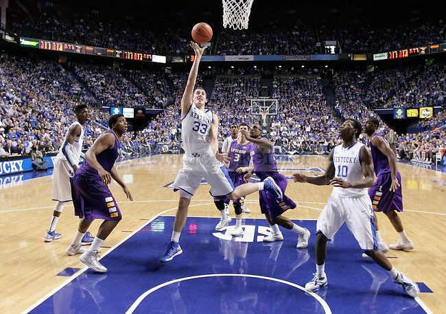 UK forward Kyle Wiltjer jumps to shoot the ball during the UK men's basketball vs. Lipscomb University at Rupp Arena in Lexington, Ky., on Saturday, December 15, 2012. Photo by Tessa Lighty | Staff
