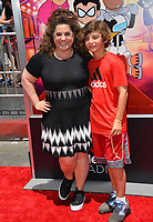 Marissa Jarret Winokur &amp; Zev Winokur at the premiere for &quot;Teen Titans Go! to the Movies&quot; at the TCL Chinese Theatre, Los Angeles, USA 22 July 2018<br /> Picture: Paul Smith/Featureflash/SilverHub 0208 004 5359 sales@silverhubmedia.com