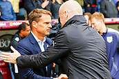 10th September 2017, Turf Moor, Burnley, England; EPL Premier League football, Burnley versus Crystal Palace; Burnley Manager Sean Dyche welcomes Crystal Palace Manager Frank de Boer