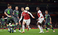 Henrikh Mkhitaryan of Arsenal during the UEFA Europa League group match between Arsenal and Sporting Clube de Portugal at the Emirates Stadium, London, England on 8 November 2018. Photo by Andrew Aleks / PRiME Media Images.<br /> .<br /> (Photograph May Only Be Used For Newspaper And/Or Magazine Editorial Purposes. www.football-dataco.com)