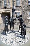 Quincentenary statue on Tower Knowe,  Hawick, Roxburghshire, Scotland, UK