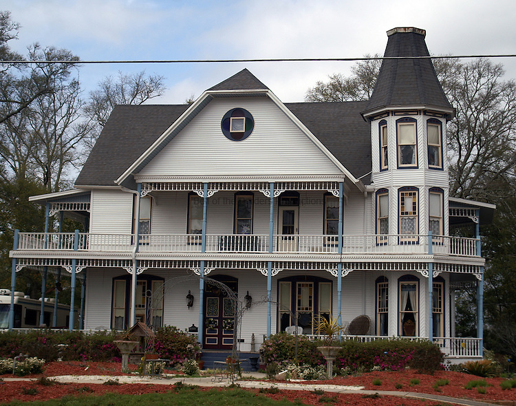 This restored Vicotiran house graces the historic district in DeFuniack Springs, FL.  The house was built when the town was a winter resort famed for its springs.