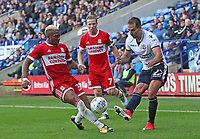 Middlesbrough's Adama Traore and Bolton Wanderers' Filipe Morais <br /> <br /> Photographer Rachel Holborn/CameraSport<br /> <br /> The EFL Sky Bet Championship - Bolton Wanderers v Middlesbrough - Saturday 9th September 2017 - Macron Stadium - Bolton<br /> <br /> World Copyright &copy; 2017 CameraSport. All rights reserved. 43 Linden Ave. Countesthorpe. Leicester. England. LE8 5PG - Tel: +44 (0) 116 277 4147 - admin@camerasport.com - www.camerasport.com
