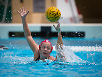 STANFORD, CA - April 20, 2019: Mackenzie Wiley at Avery Aquatic Center. The #1 Stanford Cardinal took down the #20 San Jose State Spartans 22-4.