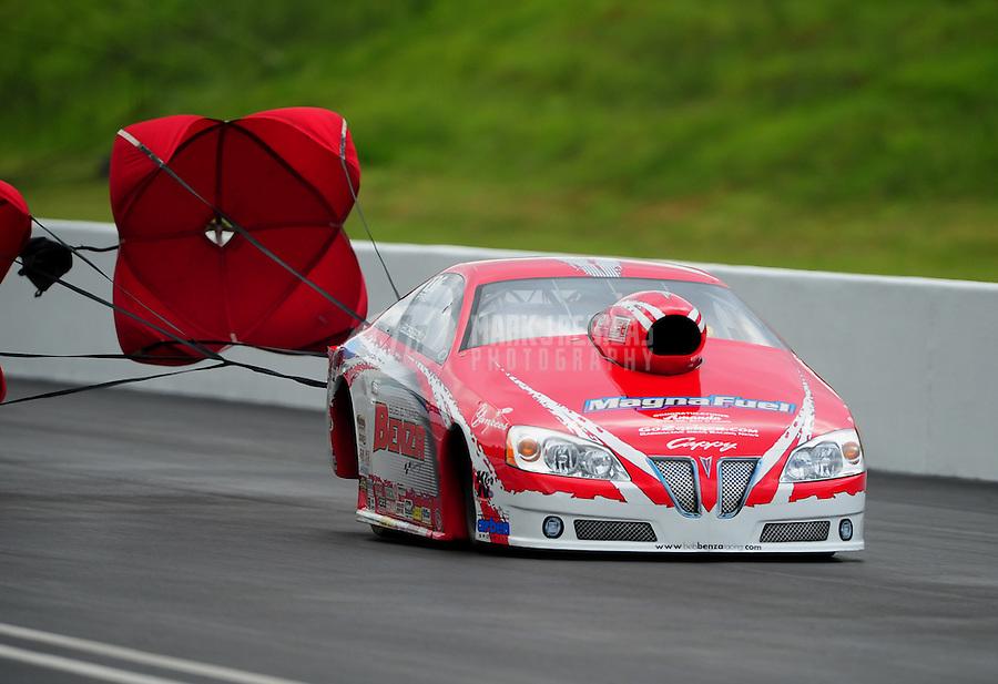 Jun. 18, 2011; Bristol, TN, USA: NHRA pro stock driver Bob Benza during qualifying for the Thunder Valley Nationals at Bristol Dragway. Mandatory Credit: Mark J. Rebilas-