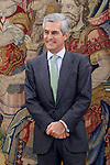 Adolfo Suarez Illana, son of former Prime Minister Adolfo Suarez Gonzalez, during the audience with King Juan Carlos I of Spain for the return of the necklace of the Order of the Golden Fleece. June 12 ,2014. (ALTERPHOTOS/Acero)