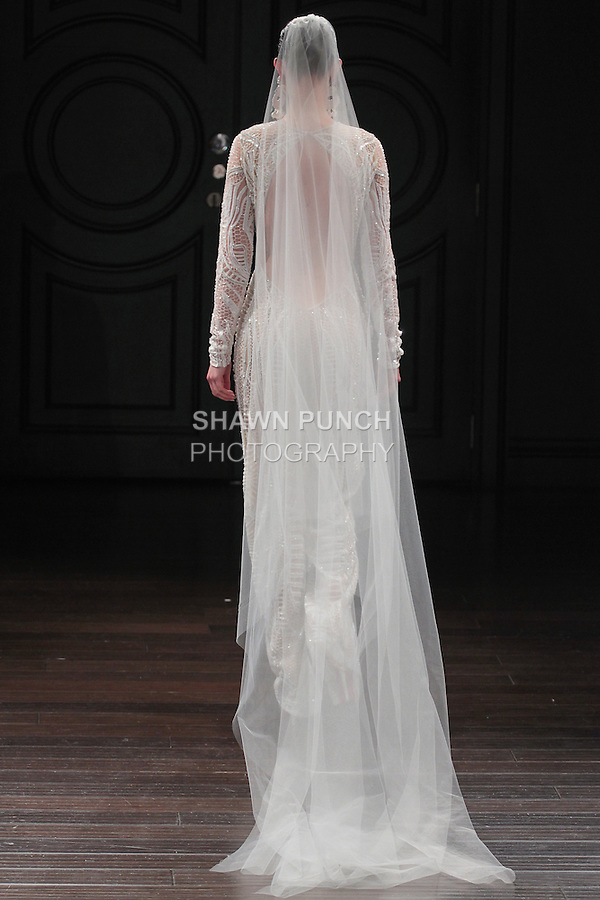 Model walks runway in a Berlin bridal gown from the Naeem Khan Bridal Spring 2017 collection at 260 West 36 Street, during New York Bridal Fashion Week Spring Summer 2017 on April 16, 2016.