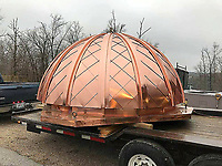 COURTESY PHOTO/Daniel Cowin Construction recently hand-crafted a new copper dome for the Tatum Bell Tower at Crowder College in Neosho.