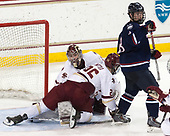 Joe Woll (BC - 31), Julius Mattila (BC - 26), Spencer Naas (UConn - 8) - The Boston College Eagles defeated the visiting UConn Huskies 2-1 on Tuesday, January 24, 2017, at Kelley Rink in Conte Forum in Chestnut Hill, Massachusetts.