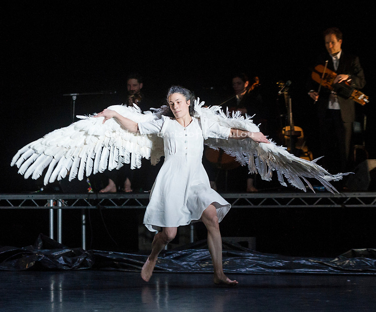 London, UK. 30.11.2017. Michael Keegan-Dolan's Swan Lake/Loch na hEala returns to Sadler's Wells, 30 Nov - 2 Dec. Picture shows: Rachel Poirier.  Photo - © Foteini Christofilopoulou.