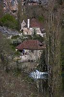 Europe/Europe/France/Midi-Pyrénées/46/Lot/Env de Calès: Vallée de l'Ouysse et Moulin de Bourgnou