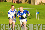 Gripping: Kerins O'Rahillys Timmy O'Sullivan v Laune Rangers' Liam Hassett in their County League Division 1 game in Killorglin.