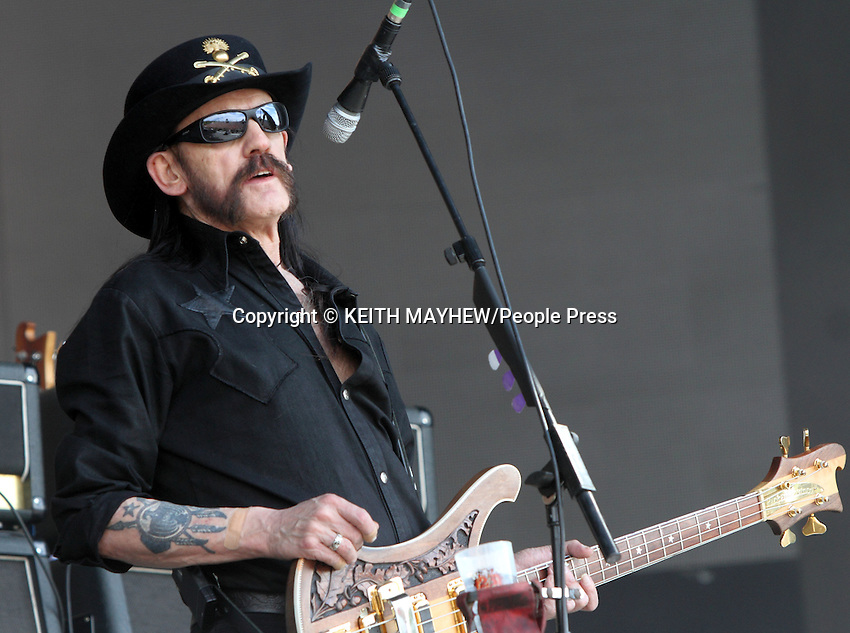 Lemmy Kilmister of 'Motorhead' performs live at British Summertime, Hyde Park, London on July 4th 2014 <br /> <br /> Photo by Keith Mayhew