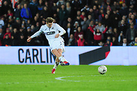 George Byers of Swansea City scores his side's fourth goal during the FA Cup Fifth Round match between Swansea City and Brentford at the Liberty Stadium in Swansea, Wales, UK. Sunday 17 February 2019