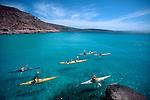 Sea kayakers, Baja, Mexico, Sea of Cortez, Isla Espiritu Santo, Baja Sur, North America, Baja Expeditions,