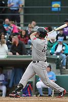 Salem Red Sox infielder Matt Gedman #44 at bat during a game against the Myrtle Beach Pelicans at Ticketreturn.com Field at Pelicans Ballpark on April 6, 2014 in Myrtle Beach, South Carolina. Salem defeated Myrtle Beach 3-0. (Robert Gurganus/Four Seam Images)