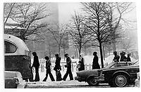 Montreal en hiver, 28 janvier 1977<br /> <br /> PHOTO : Alain Renaud - Agence Quebec Presse<br /> <br /> Les images commandees seront recadrees lorsque requis