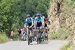 The peloton led by Movistar Team on the slopes of the final climb Horquette d'Ancizan during Stage 3 of the Route d'Occitanie 2019, running 173km from Arreau to Luchon-Hospice de France, France. 22nd June 2019<br /> Picture: Colin Flockton | Cyclefile<br /> All photos usage must carry mandatory copyright credit (© Cyclefile | Colin Flockton)