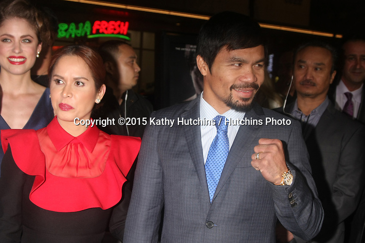 "LOS ANGELES - JAN 20:  Jinkee Pacquiao, Manny Pacquiao at the ""Manny"" Los Angeles Premiere at a TCL Chinese Theater on January 20, 2015 in Los Angeles, CA"