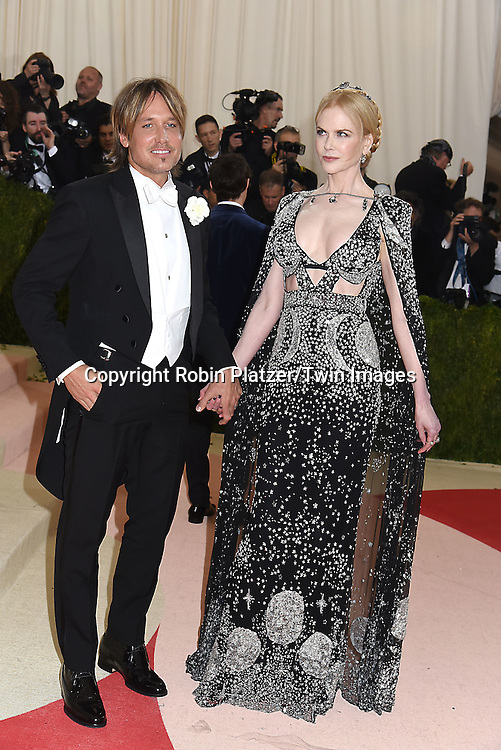 Keith Urban and Nicole Kidman attends the Metropolitan Museum of Art Costume Institute Benefit Gala on May 2, 2016 in New York, New York, USA. The show is Manus x Machina: Fashion in an Age of Technology. <br /> <br /> photo by Robin Platzer/Twin Images<br />  <br /> phone number 212-935-0770