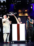 """Kevin James (The Inventor) and cast during a press preview of """"The Illusionists - Magic of the Holidays"""" at the Neil Simon Theatre on December 3, 2019 in New York City."""