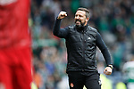 Derek McInnes celebrates at the end