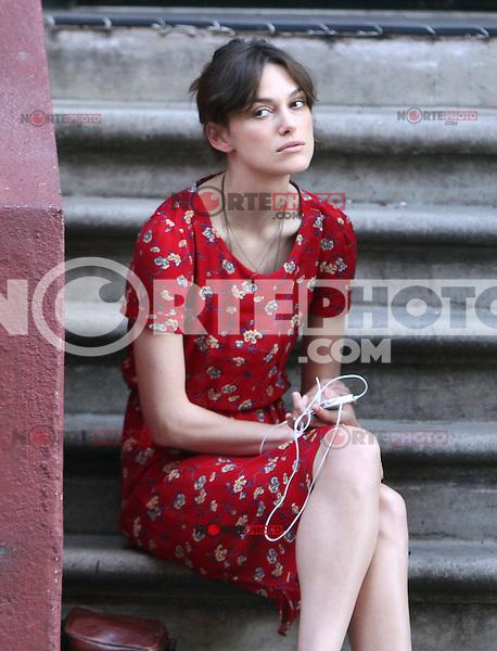 """July 3, 2012: Keira Knightley on the set of """"Can a Song Save Your Life?"""" in New York City. © RW/MediaPunch Inc. /*NORTEPHOTO.COM*<br /> *SOLO*VENTA*EN*MEXiCO* *CREDITO*OBLIGATORIO** *No*Venta*A*Terceros* *No*Sale*So*third* ***No Se*Permite*Hacer*Archivo** *No*Sale*So*third"""