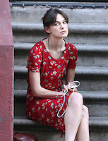 "July 3, 2012: Keira Knightley on the set of ""Can a Song Save Your Life?"" in New York City. © RW/MediaPunch Inc. /*NORTEPHOTO.COM*<br />