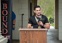 "Giovanni Rubio<br /> Upward Bound hosts their annual ""End of the Year"" celebration with participants and their families on May 12, 2018 in the courtyard of Booth Hall. Jimmy Gomez, U.S. Representative for California's 34th congressional district, was the featured speaker at the event.<br /> Upward Bound was established at Occidental College in 1966 and has since served over 2000 first generation, low income students in the Los Angeles region.<br /> (Photo by Marc Campos, Occidental College Photographer)"