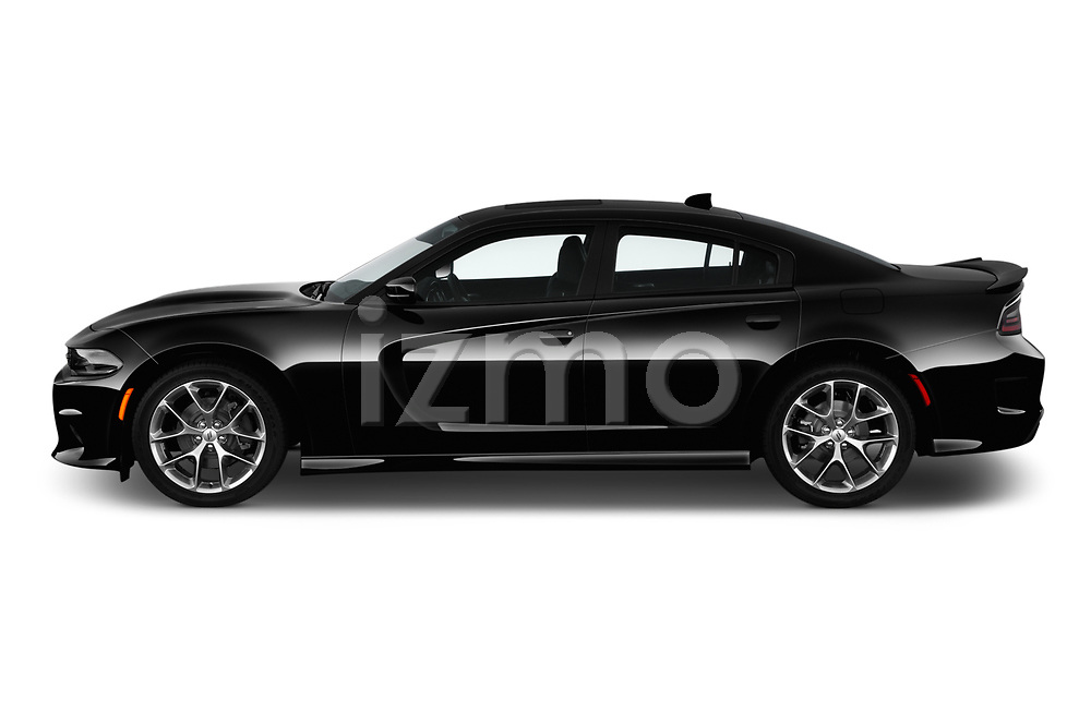 Car Driver side profile view of a 2019 Dodge Charger GT 4 Door Sedan Side View