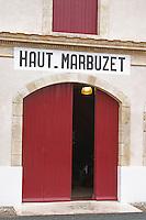 Winery building. Chateau Haut Marbuzet, Saint Estephe, medoc, Bordeaux, France