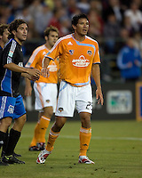22 May 2008: Brian Ching of the Dynamo in action during the game against the Dynamo at Buck Shaw Stadium in San Jose, California.   San Jose Earthquakes defeated Houston Dynamo, 2-1.