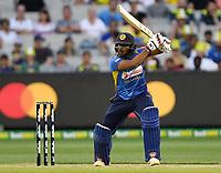 1st November 2019; Melbourne Cricket Ground, Melbourne, Victoria, Australia; International T20 Cricket, Australia versus Sri Lanka; Avishka Fernando of Sri Lanka plays the ball through the off side - Editorial Use
