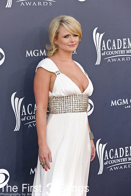 Miranda Lambert attends the 46th Annual Academy of Country Music Awards in Las Vegas, Nevada on April 3, 2011.