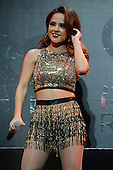 SUNRISE, FL - DECEMBER 21: Becky G performs during the Y100's Jingle Ball 2014 at BB&T Center on December 21, 2014 in Miami, Florida. Credit Larry Marano (C) 2014